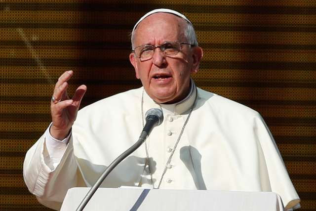 Pope Francis says world economic system inevitably leads to war