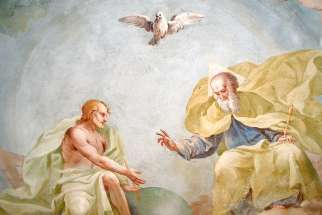 The Holy Trinity, a fresco created by Luca Rossetti da Orta, 1738-39