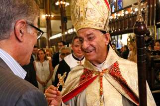 Lebanese Cardinal Bechara Rai, patriarch of the Maronite Catholic Church, seen in New York in 2016. Cardinal Rai praised his country's newly ratified electoral law June 17, which establishes proportional representation.
