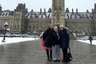 Fran Lucas national president-elect of the Catholic Women's League; Cathy Bouchard resolutions chairperson and Anne-Marie Gorman, national president on the Hill Nov. 26-28.