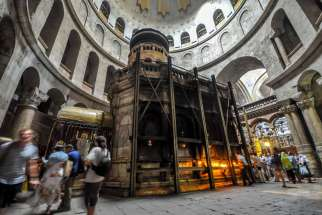 Canada's Catholic Bishops, along with the Greek Orthodox and Armenian Orthodox bishops in Canada are raising money for restoration of the Church of the Holy Sepulchre in Jerusalem.