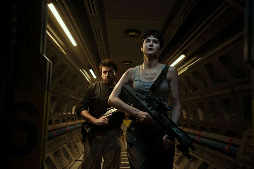 Danny McBride and Katherine Waterston star in a scene from the movie 'Alien: Covenant.'