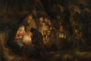 The Nativity, 1646, by Rembrandt