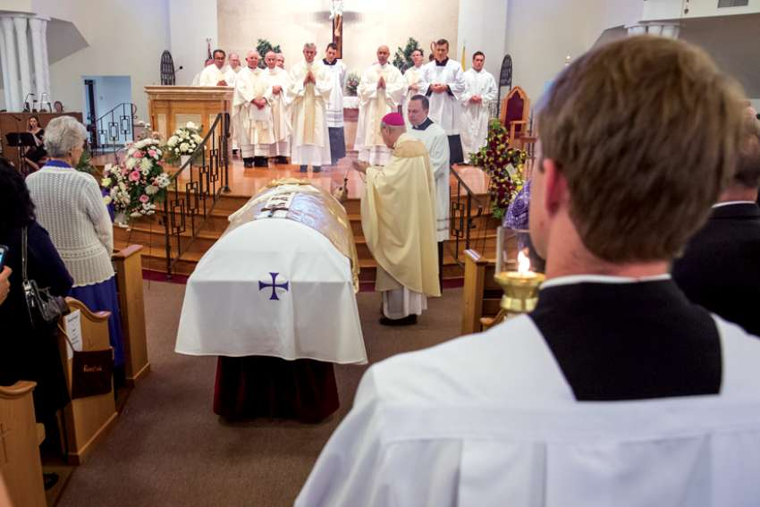"A funeral Mass is the ""final act that a caring community can offer for the deceased."""