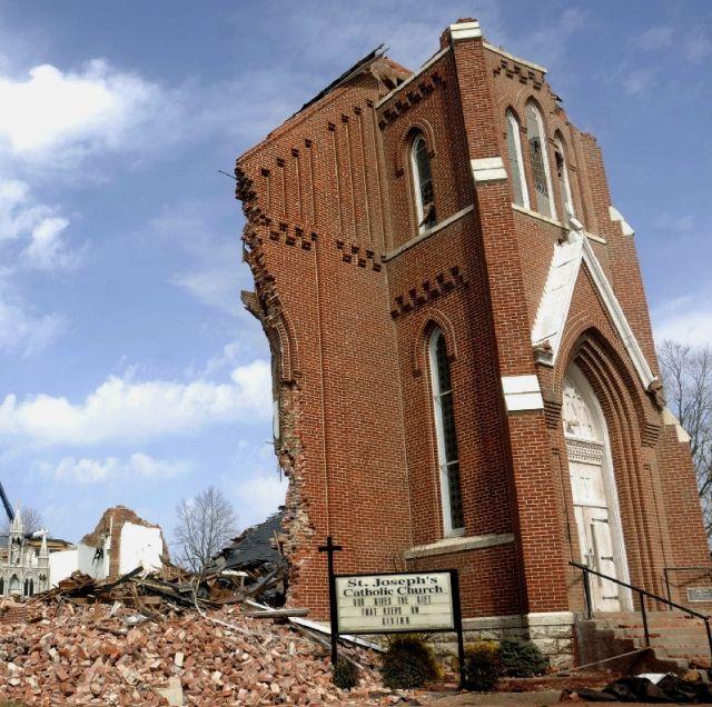 Tornado Destroys Illinois Catholic Church; Death Toll