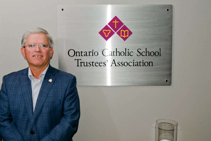 Pat Daly is back for a second term as president of the Ontario Catholic School Trustees' Association.