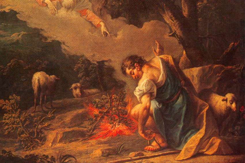Moses and the burning bush, Jean Baptiste van Loo, 1684 – 1745