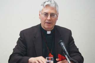 Archbishop Murray Chatlain, above, co-chair of the Our Lady of Guadalupe Circle, a coalition of Catholic groups. The Circle has been invited by Indigenous and Northern Affairs Minister Carolyn Bennett to aid the federal government in obtaining a papal apology for the Church role in residential schools.