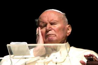 St. John Paul II — seen here in his final public appearance three days before he died — showed us true dignity as he faced death nine years ago.