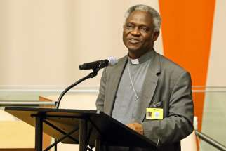 """We cannot love God when we do not appreciate or care for what God has made,"" says Ghanaian Cardinal Peter Turkson, president of the Pontifical Council for Justice and Peace. The cardinal, pictured in a 2015 file photo, made the comments in an Oct. 31 interview with the Catholic Times, newspaper of the Diocese of Columbus, Ohio."