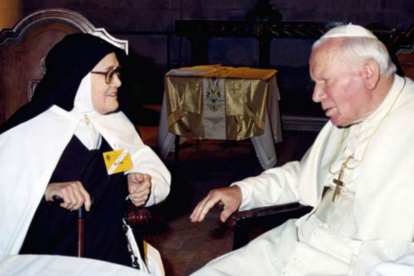 Bishop Virgilio Antunes of Coimbra, Portugal, formally closed the local phase of investigation into her life and holiness Feb. 13 in the Carmelite convent of St. Teresa in Coimbra, where she resided until her death in 2005 at the age of 97.