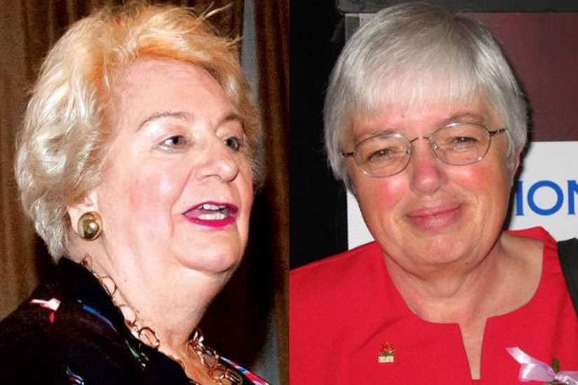 Gwen Landolt, founder of REAL Women of Canada (left) and Mary Ellen Douglas, the national organizer for Campaign Life Coalition (right)