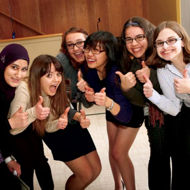 These young women were finalists in the 2011 Take the Lead contest at Brescia University.