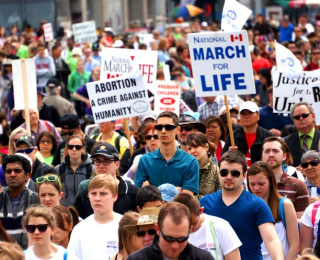Organizers estimated that more than 23,000 marchers joined the annual March for Life on May 8.