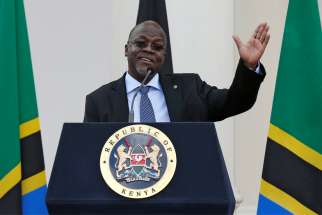 Tanzanian President John Pombe Magufuli, a Catholic, is pictured in a 2016 file photo.