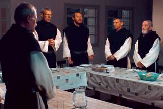 Trappist monks are pictured in a scene from the 2011 film Of Gods and Men, which tells the story of the kidnapping and beheading of seven Trappist monks by a group of Islamic terrorists in 1996.