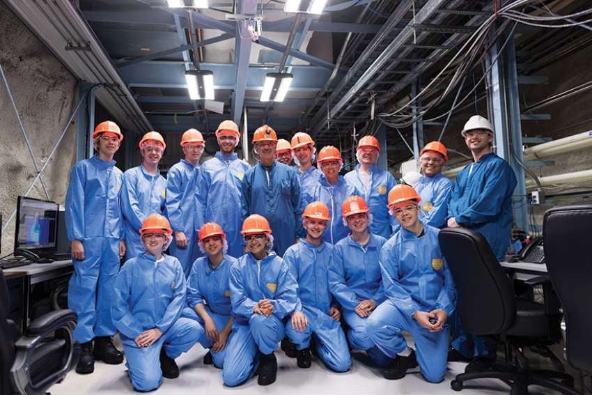 The Charging Cavaliers and their teachers prepared for CERN by visiting SNOLAB in Sudbury, Ont.