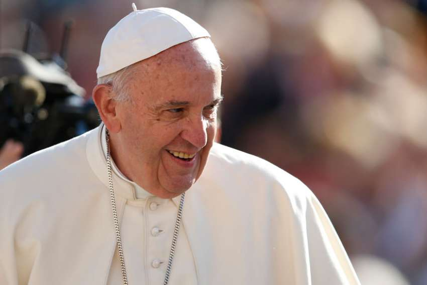 Pope Francis smiles during his general audience in St. Peter's Square at the Vatican Oct. 19. Just before his trip to Sweden for the 500th anniversary of the Protestant Reformation, the Pope was interviewed by Jesuit journal 'Civilta Cattolica.'