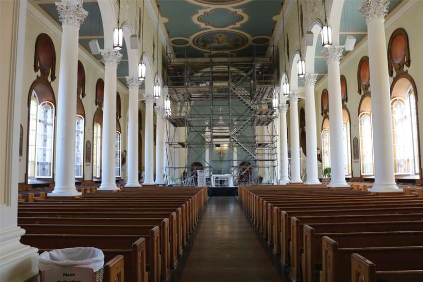 The historic murals of St. Ninian's Cathedral in Antigonish, N.S. are being restored. Michelle Gallinger and her team have spent the past few summers painstakingly removing paint and plaster that had covered the murals.