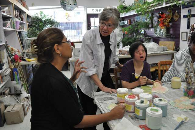Sr. Helen Kluke leads people to light and peace through her pottery classes.