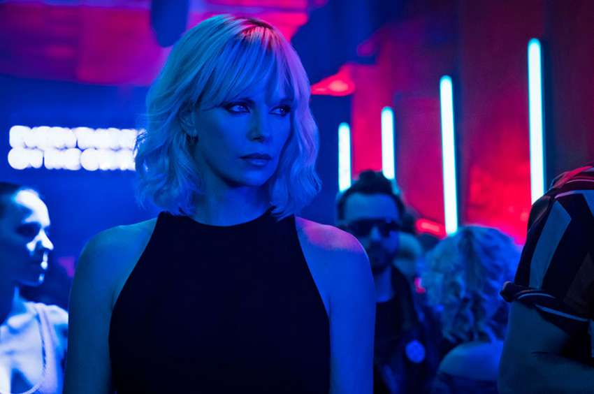 "Charlize Theron stars in a scene from the movie ""Atomic Blonde."""