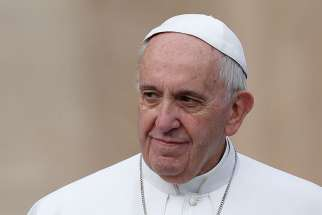 Pope Francis is seen during his general audience in St. Peter's Square at the Vatican March 16.