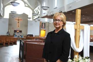 Alberta Justice Debra Yungwirth at Edmonton's Corpus Christi Church, where she spoke to the Diocesan Catholic Women's League.