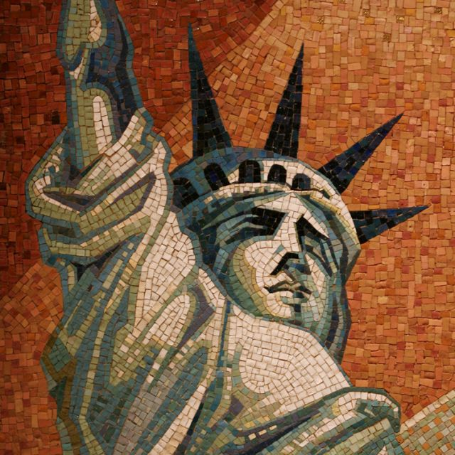 "A depiction of the Statue of Liberty appears in mosaic, part of a larger piece in a side chapel at the Basilica of the National Shrine of the Immaculate Conception in Washington. An Ad Hoc Committee on Religious Liberty has called for ""a fortnight for freedom"" from June 21, the vigil of the feasts of St. John Fisher and St. Thomas More, to July 4, U.S. Independence Day."