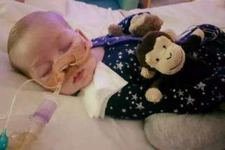 Charlie Gard, now aged 10 months, is believed to suffer from a rare genetic condition called mitochondrial depletion syndrome, which causes progressive muscle weakness. His parents want to transport him to the U.S. for experimental treatment while the hospital says life support should be withdrawn.