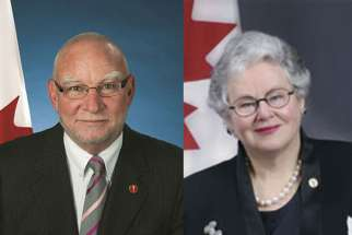 Liberal Senator Larry Campbell and Conservative Senator Nancy Ruth introduced a euthanasia and assisted suicide bill in the Senate on Dec. 2.