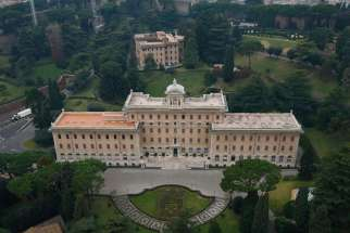 The Palace of the Governorate, seat of the administrative offices of Vatican City State, is pictured at the Vatican in this file photo.