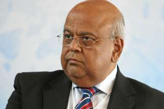 Pravin Gordhan, Minister of Finance of South Africa at the at the Annual Meeting 2012 of the World Economic Forum in Davos, Switzerland, January 27, 2012. South Africa's Jesuits warns that pursing charges against Gordhan might have serious economic consequences.