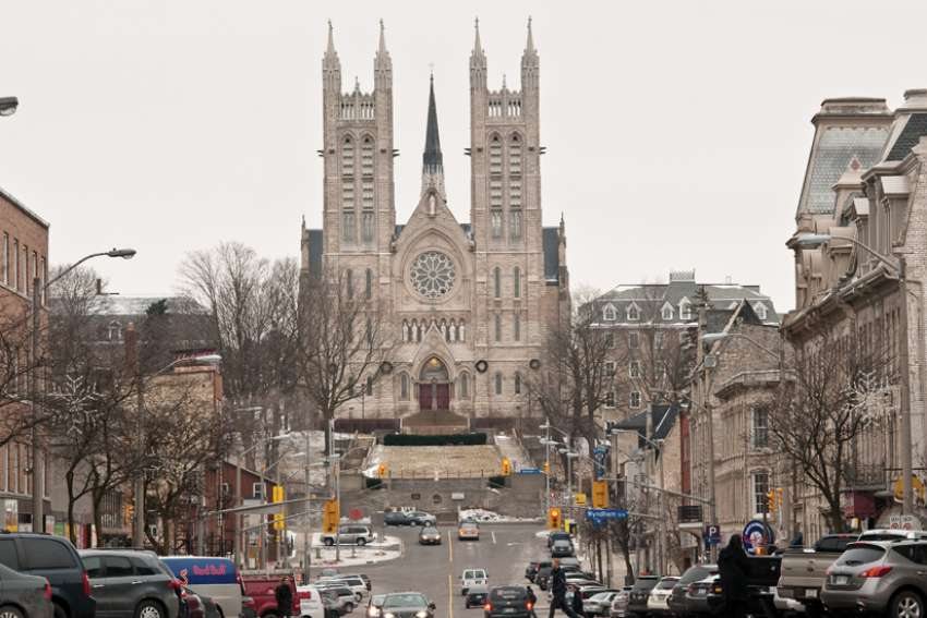 Churches like the Basilica of Our Lady Immaculate in Guelph, Ont., are part of religion's $67.5-billion contribution to Canada's GDP, according to a new study.