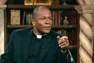 Fr. Maurice Emelu, a Nigerian priest who has made a name for himself as a television host-producer with EWTN.