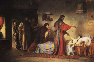 Vasily Polenov, The Raising of Jairus' Daughter, 1871