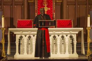 Cardinal Robert Sarah delivers a public lecture on living a silent Christian life at St. Michael's Cathedral in Toronto, Mar. 12, 2018.