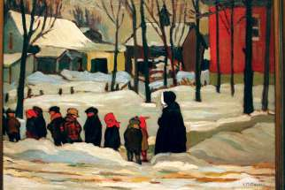 Kathleen Morris' Nuns With Children is one of works on display at the Colours of Jazz exhibit at Montreal's Museum of Fine Arts. The exhibit of works by The Beaver Hall Group runs through January.