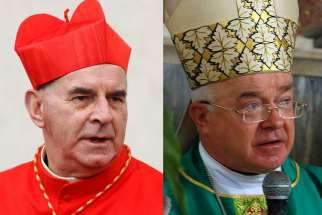 Cardinal Keith O'Brien, pictured left, and Archbishop Jozef Wesolowski.
