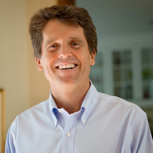 "Mark Shriver, author of ""A Good Man: Rediscovering My Father, Sargent Shriver,"" poses for a photo at his home in Bethesda, Md., May 31. Sargent Shriver, a lifelong Catholic, was revered in the public square as the founding director of the Peace Corps and the architect of anti-poverty programs such as Vista, Head Start and Legal Services."