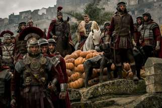 "Toby Kebbell and Pilou Asbaek star in a scene from the movie ""Ben Hur."""