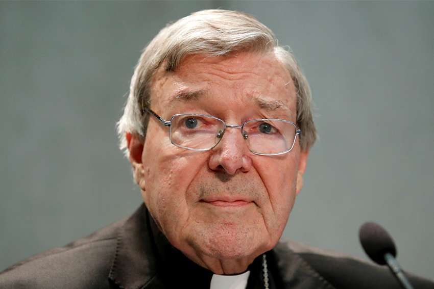 Cardinal Pell is pictured in a June 29, 2017, photo at the Vatican.