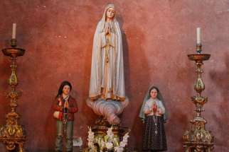 Bishop Antonio dos Santos Marto of Leiria-Fatima said that the canonization of Blessed Francisco and Jacinta Marto would complete the centenary of the Marian apparition.