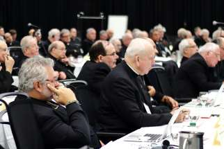 Bishops attend the annual plenary assembly of the Canadian Conference of Catholic Bishops in 2016 in Cornwall, Ontario. The bishops have issued stricter rules for media who want to cover the assembly, which this year will be in Cornwall Sept. 24-28.