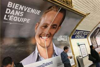 A jobs discrimination poster campaign poster can be seen in the metro in France.