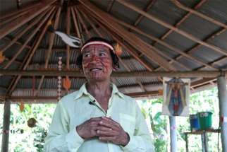 "Deacon Shainkiam Yampik Wananch prays in a chapel in Wijint, a village in the Peruvian Amazon, Aug. 20, 2019. In Pope Francis' postsynodal apostolic exhortation, ""Querida Amazonia,"" released Feb. 12, 2020, the pontiff acknowledged the serious shortage of priests in remote areas of the Amazon, but he insisted not all avenues have been exhausted to address the issue."