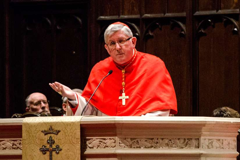 Cardinal Thomas Collins speaks at A Service of Prayer for the Persecuted Church April 10 in Toronto