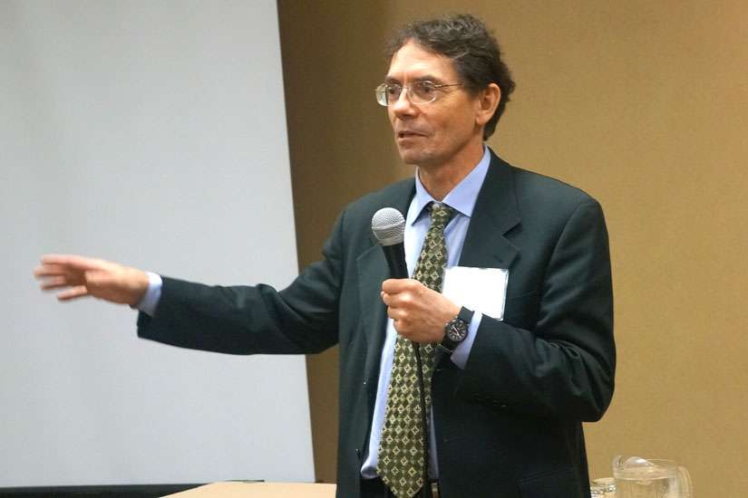 Dr. Will Johnston at a euthanasia conference in 2014.