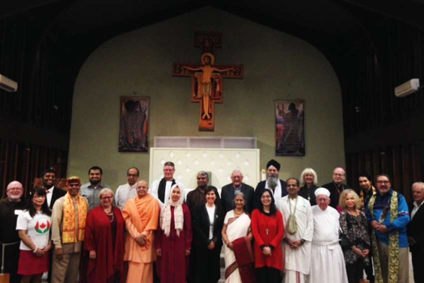 Leaders and followers from 14 different religions gathered at St. Philip Neri Church in Toronto for the Interfaith Prayer Service for Peace at the beginning of October.