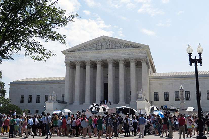Citizens rallied on the steps of the Supreme Court on Monday (June 30), after it sided with the evangelical owners of Hobby Lobby Stores Inc., ruling 5-4 that the arts-and-crafts chain does not have to offer insurance for types of birth control that conflict with company owners' religious beliefs.