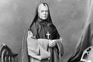 A photograph portrait of Sister Superior Mère Bruyère taken in 1871 by William James Topley.